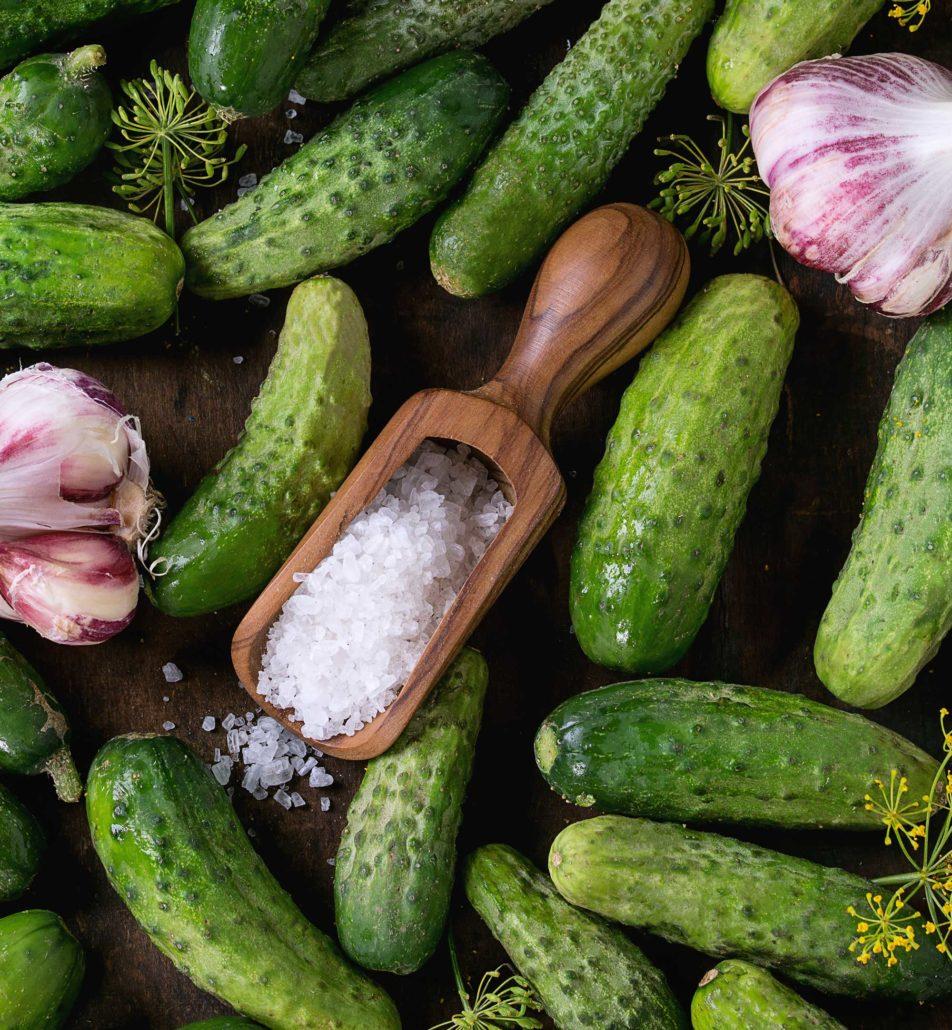 Rasilaisen suolakurkkujen pikanttia makua täydentävät yrtit ja valkosipuli. Erityisen paljon potkua on pirteissä chilikurkuissa! Suolakurkkumme ovat maukasta naposteltavaa ja sopivat leivänkin päälle. Smetanan ja hunajan kera ne taas muodostavat klassisen alkupalan.