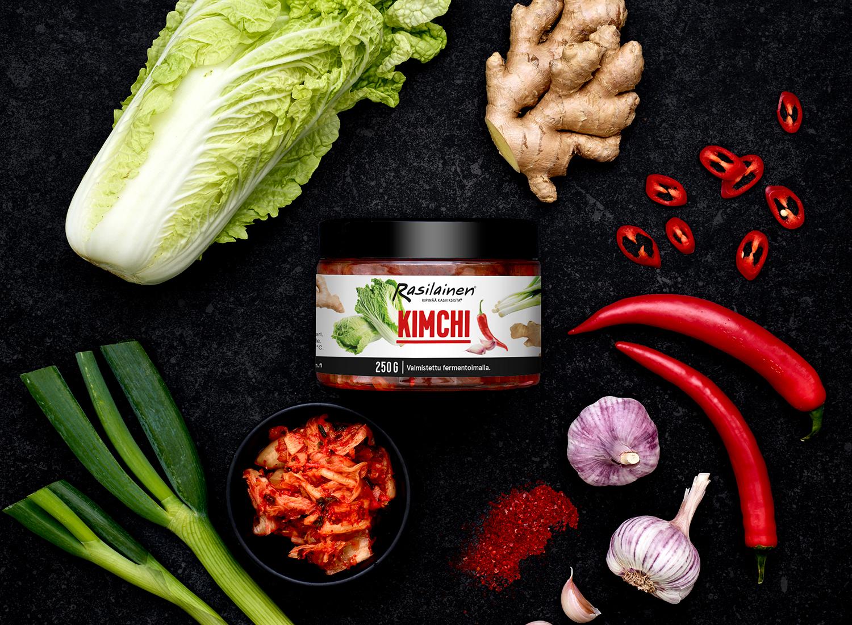 Rasilaisen kimchi -pakkaus